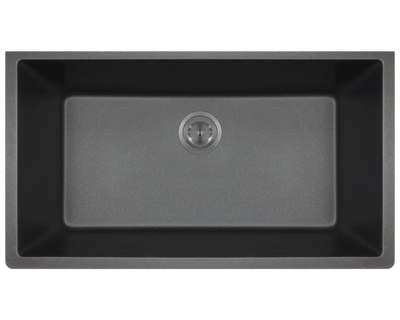 Polaris P848BL 32-5/8 INCH LARGE SINGLE BOWL UNDERMOUNT ASTRAGRANITE KITCHEN SINK