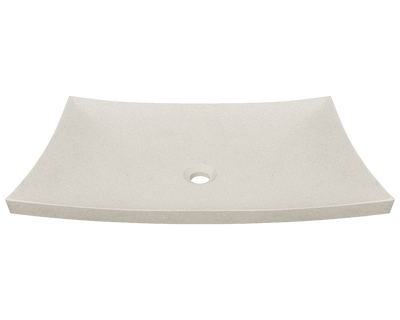 POLARIS P858 CREAM PINTA COMPOUND MARBLE VESSEL SINK 25-1/2 INCH HAND POLISHED