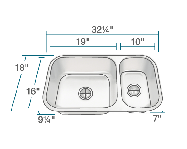 POLARIS PB8123L 18 GAUGE DOUBLE BOWL UNDERMOUNT STAINLESS STEEL KITCHEN SINK IN BRUSHED SATIN