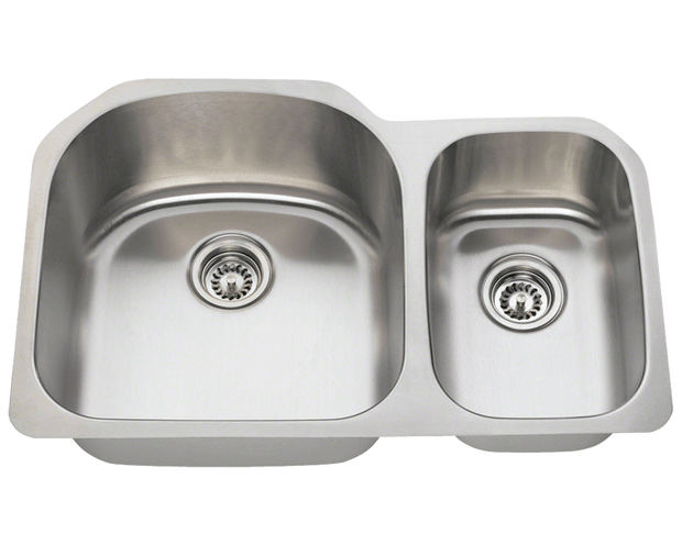 Polaris PL1213 Stainless Steel Kitchen Sink 31-1/2 Inch Brushed Satin