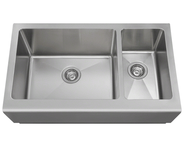POLARIS PL704 OFFSET APRON SINK 32-3/4 INCH BRUSHED SATIN