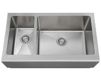 POLARIS PR704 OFFSET APRON SINK 32-3/4 INCH BRUSHED SATIN