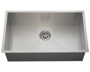 POLARIS PS2233 INDUSTRIAL RECTANGULAR STAINLESS STEEL SINK 32 INCH BRUSHED SATIN