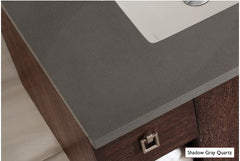 James Martin 305-V60D-WWW-3SHG Chicago 60 Inch White Washed Walnut Double Vanity with 3 CM Shadow Gray Quartz Top