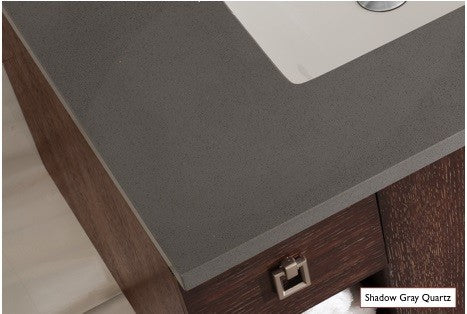 James Martin 250-V36-WTP-3SHG Pasadena 36 Inch Single Vanity in Warm Taupe with 3 CM Shadow Gray Quartz Top