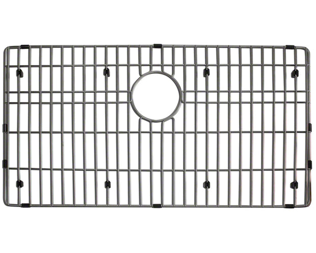 POLARIS P504-ENS 16 GAUGE KITCHEN ENSEMBLE (SINK, STANDARD STRAINER, AND SINK GRID)