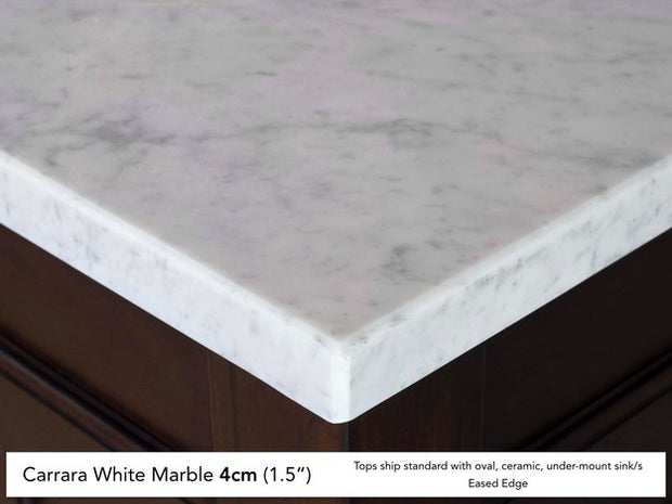 James Martin 238-104-V72-CWH-4CAR Savannah 72 Inch Cottage White Double Vanity with Carrara White Stone Top