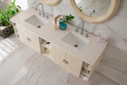 JAMES MARTIN 860-V72-VNO-4GLB SONOMA 72 INCH DOUBLE VANITY IN VANILLA OAK WITH 4 CM GALALA BEIGE MARBLE TOP