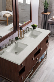 JAMES MARTIN 864-V60D-CFO-3CAR SONORAN 60 INCH DOUBLE VANITY IN COFFEE OAK WITH 3 CM CARRARA MARBLE TOP