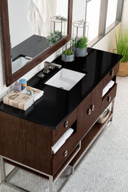 JAMES MARTIN 864-V60S-CFO-4CAR SONORAN 60 INCH SINGLE VANITY IN COFFEE OAK WITH 4 CM CARRARA WHITE MARBLE TOP