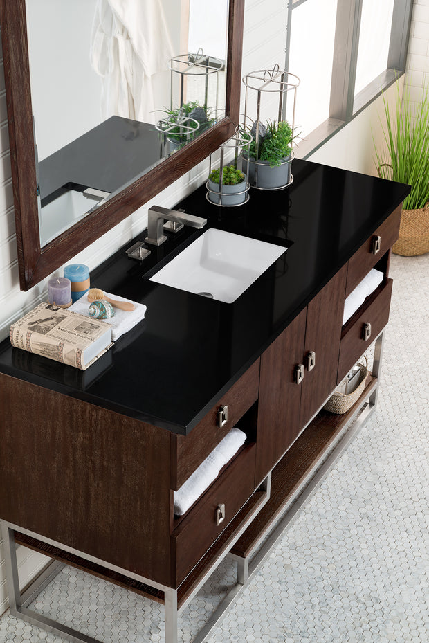 JAMES MARTIN 864-V60S-CFO SONORAN 60 INCH SINGLE VANITY IN COFFEE OAK
