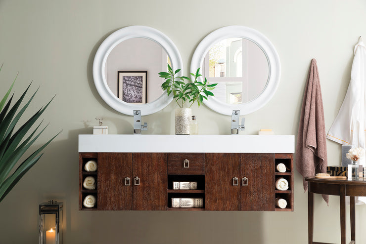 JAMES MARTIN 868-V59D-CFO-A TIBURON 59 INCH DOUBLE VANITY, COFFEE OAK