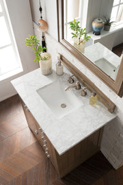 James Martin 250-V36-WTP-4BLK Pasadena 36 Inch Single Vanity in Warm Taupe with 4 CM Absolute Black Rustic Stone Top