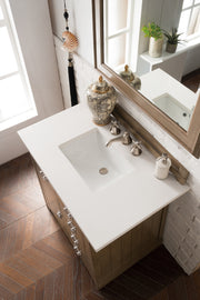 James Martin 250-V36-WTP-4DSC Pasadena 36 Inch Single Vanity in Warm Taupe with 4 CM Santa Cecilia Granite Top