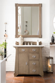 James Martin 250-V36-WTP Pasadena 36 Inch Single Vanity in Warm Taupe