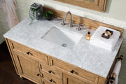 James Martin 300-V48-DRP-4GLB Copper Cove 48 Inch Driftwood Patina Single Vanity with Galala Beige Marble Stone Top
