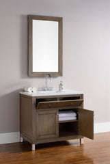 James Martin 305-V36-WWW Chicago 36 Inch Single Vanity in White Washed Walnut
