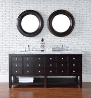 James Martin 505-V72-CEO-3SNW Vancouver 72 Inch Cerused Espresso Oak Double Vanity with Snow White Quartz Top