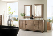 James Martin 620-V72-WW-4GLB Portland 72 Inch Double Vanity in White Washed Walnut with 4 CM Galala Beige Marble Top