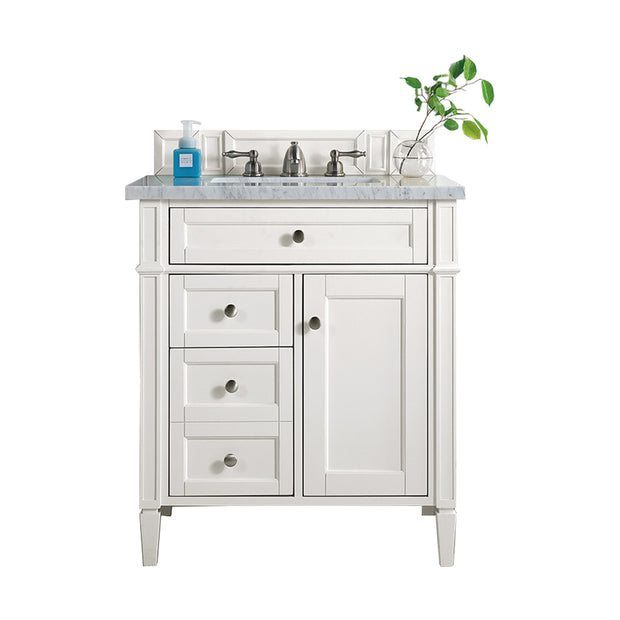 James Martin 650-V30-CWH Brittany 30 Inch Single Vanity in Cottage White