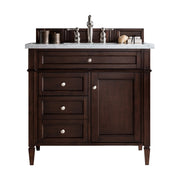 James Martin 650-V36-BNM Brittany 36 Inch Single Cabinet, Burnished Mahogany