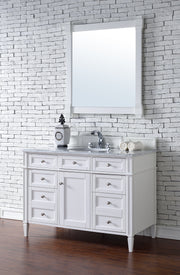 James Martin 650-V48-CWH Brittany 48 Inch Single Cabinet, Cottage White