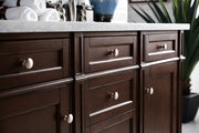 James Martin 650-V60D-BNM Brittany 60 Inch Double Cabinet, Burnished Mahogany