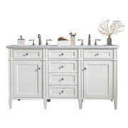 James Martin 650-V60D-CWH Brittany 60 Inch Double Cabinet, Cottage White
