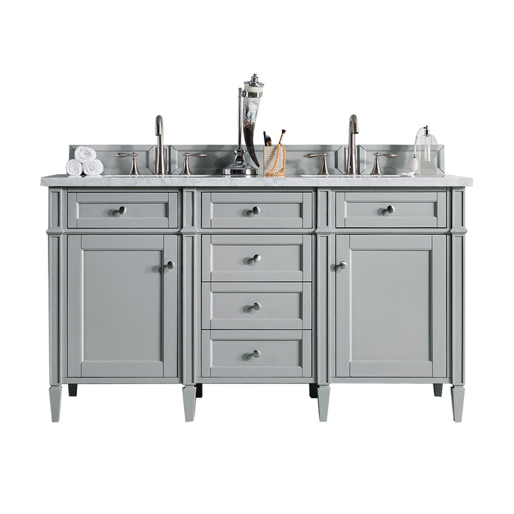 James Martin 650-V60D-UGR Brittany 60 Inch Double Cabinet, Urban Gray