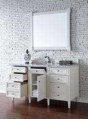 James Martin 650-V60S-CWH Brittany 60 Inch Single Cabinet, Cottage White