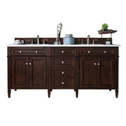 James Martin 650-V72-BNM Brittany 72 Inch Double Cabinet, Burnished Mahogany