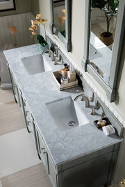 James Martin 650-V72-UGR-3SHG Brittany 72 Inch Urban Gray Double Vanity with 3cm Shadow Gray Quartz Top