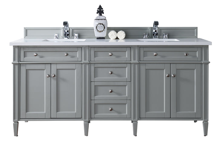 James Martin 650-V72-UGR Brittany 72 Inch Double Cabinet, Urban Gray