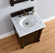 James Martin 770-V26-BNM-2GLB New Haven 26 Inch Burnished Mahogany Single Vanity with Galala Beige Stone Top