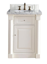 James Martin 770-V26-CWH New Haven 26 Inch Single Vanity, Cottage White
