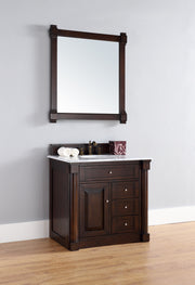 James Martin 770-V36-BNM New Haven 36 Inch Single Vanity, Burnished Mahogany