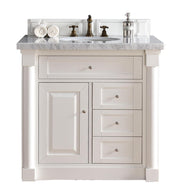 James Martin 770-V36-CWH New Haven 36 Inch Single Vanity, Cottage White