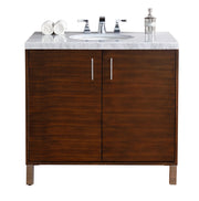 James Martin 850-V36-AWT Metropolitan 36 Inch Single Vanity, American Walnut