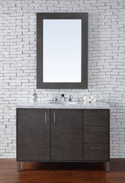 James Martin 850-V48-SOK Metropolitan 48 Inch Single Vanity, Silver Oak