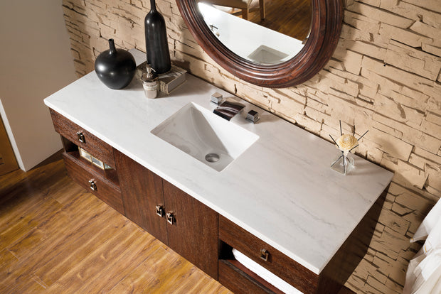 James Martin 860-V60S-CFO Sonoma 60 Inch Single Vanity, Coffee Oak