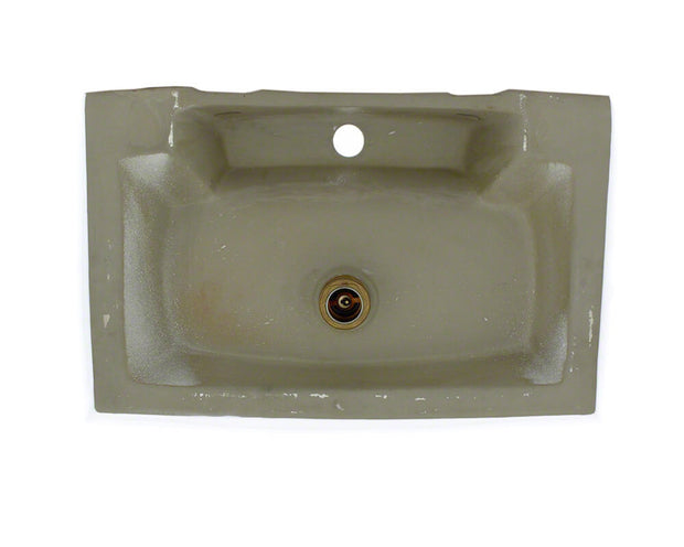 THE POLARIS P2032VW PORCELAIN VESSEL BATHROOM SINK IN TRIPLE GLAZED FINISH