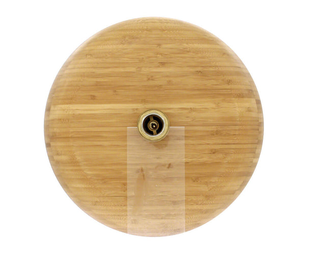 POLARIS P398 BAMBOO VESSEL BATHROOM SINK IN BAMBOO FINISH