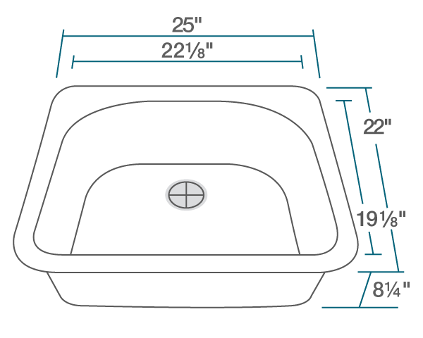 POLARIS P428TW D-SHAPE SINGLE BOWL TOPMOUNT ASTRA GRANITE KITCHEN SINK IN WHITE MATTE