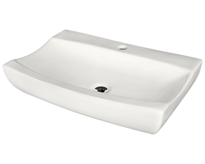 THE POLARIS P2032VB PORCELAIN VESSEL BATHROOM SINK IN TRIPLE GLAZED FINISH