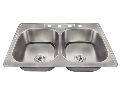 POLARIS PT2201US-ENS KITCHEN ENSEMBLE (SINK AND 2 STANDARD STRAINERS)