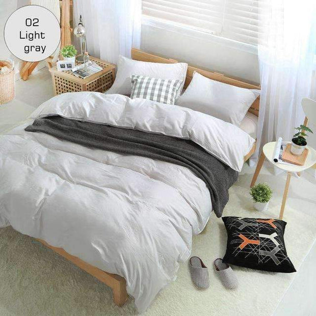 100% Cotton Solid Bedding set King size luxury Duvet cover set 16 Size High density Black bedclothes