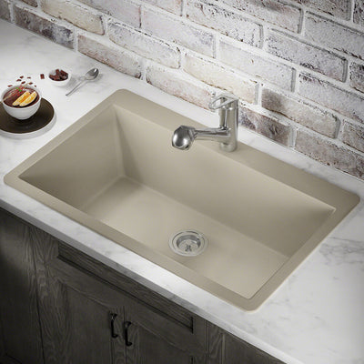 POLARIS P848TST LARGE SINGLE BOWL TOPMOUNT ASTRA GRANITE KITCHEN SINK IN SLATE MATTE