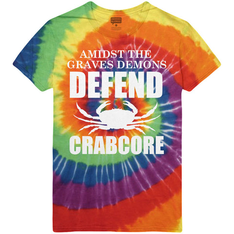 Amidst The Grave's Demons - Defend Tie-Dye Tee