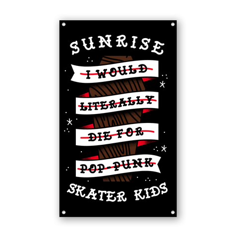 Sunrise Skater Kids - Coffin Flag