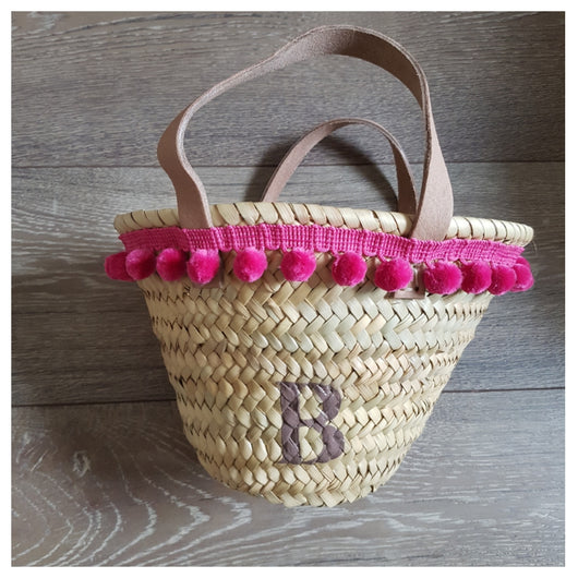Baby Mini Pompom Basket